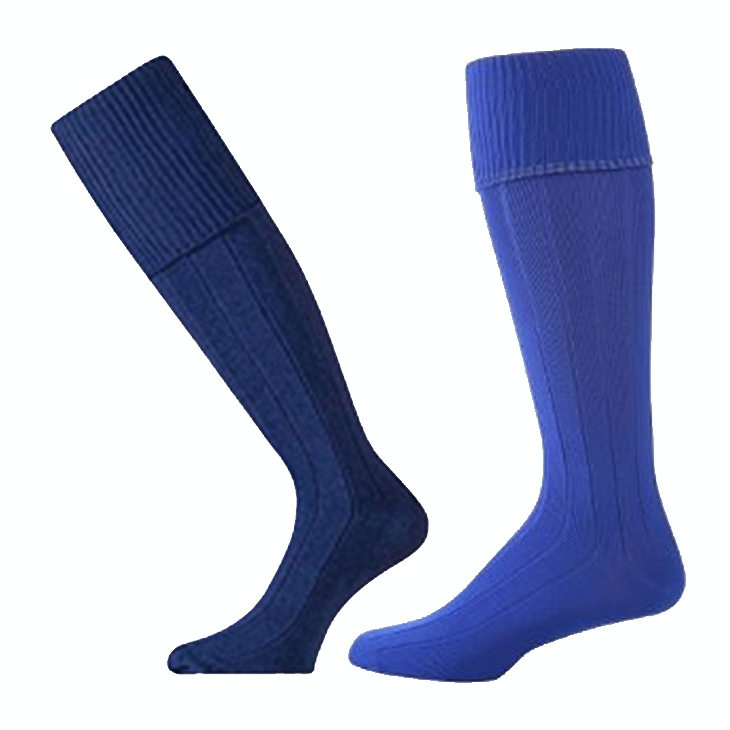 912caffe819 Long Sports Socks – Royal or Navy Blue