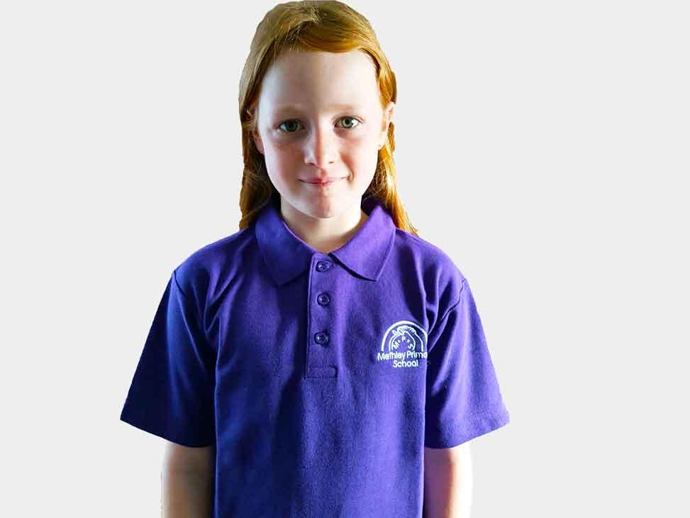 Methley Purple Polo Shirt Graham Briggs School Outfitters