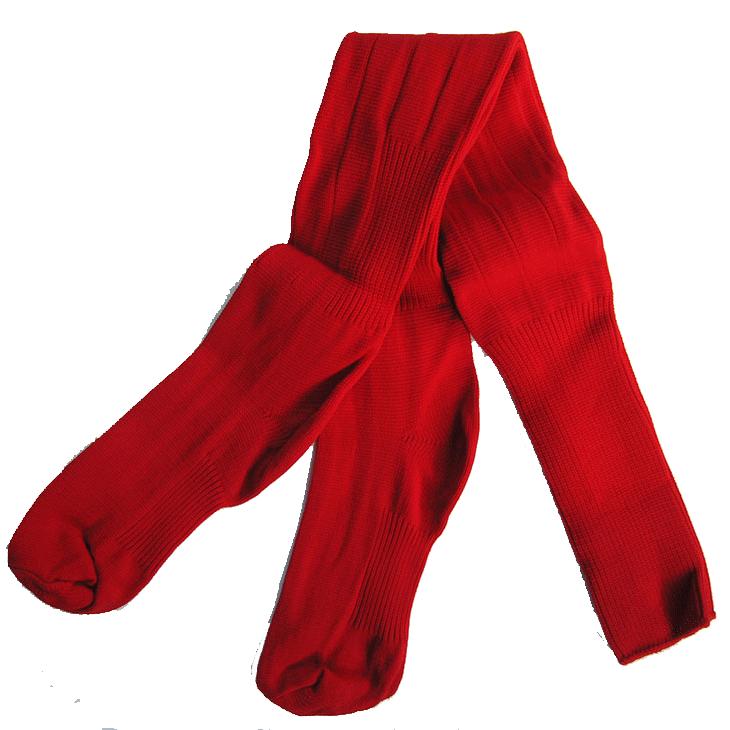red-long-sports-socks