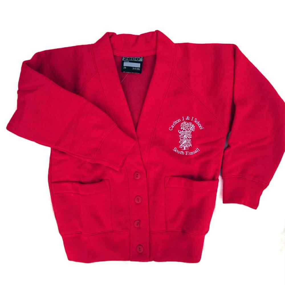 Carlton-J-and-I-red-sweat-cardigan