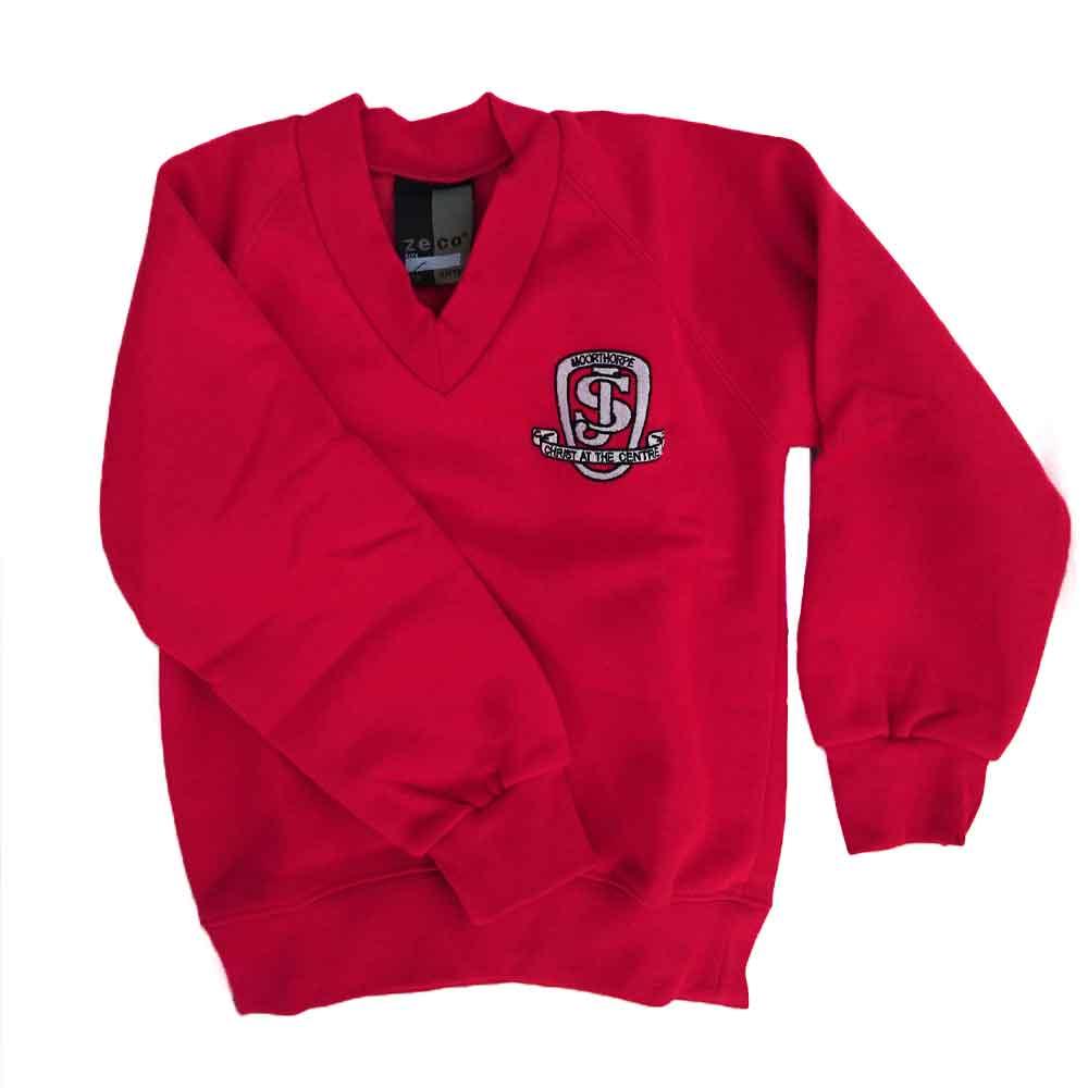 moorthorpe-red-v-neck-sweatshirt