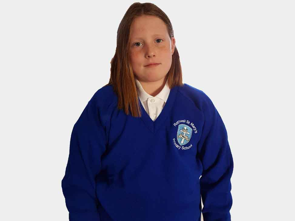 rothwell-st-marys-blue-v-neck-jumper