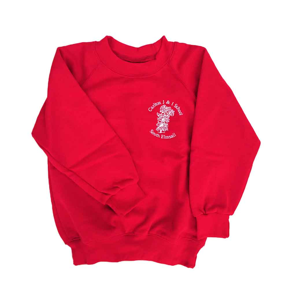 Carlton-J-and-I-red-crew-neck-sweatshirt